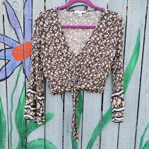 American Eagle Outfitters Crop Blouse XS